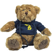 Chelsea Teddy Bear Co. University of Michigan State Logo Hood Teddy Bear