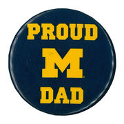 MCM University of Michigan Proud Dad Button
