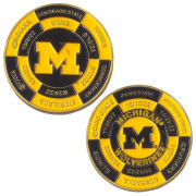 University of Michigan Football 2018 Schedule Challenge Coin