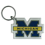 MCM University of Michigan Split M Acrylic Keychain