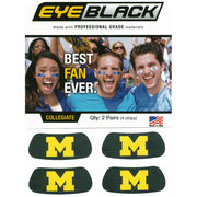 MCM University of Michigan Block M Eye Black (2 Pack)