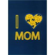 Fanatic Cards University of Michigan Mother's Day ''I Heart Mom'' Greeting Card