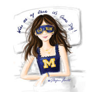 Meghann Powell Illustrations University of Michigan ''Wake Me Up When It's Game Day'' Print