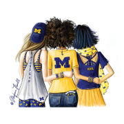 Meghann Powell Illustrations University of Michigan ''Michigan Sisters'' Print