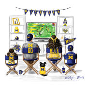 Meghann Powell Illustrations University of Michigan ''Michigan Family'' Print