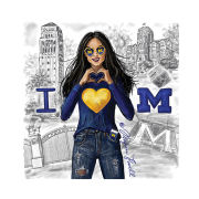 Meghann Powell Illustrations University of Michigan ''Michigan Love'' Print