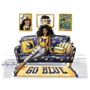 Meghann Powell Illustrations University of Michigan ''Go Blue Home'' Print
