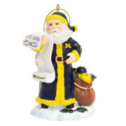Memory Company University of Michigan Santa Ornament