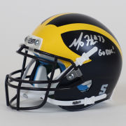 University of Michigan Football Maurice Hurst Jr. Autographed Mini Helmet