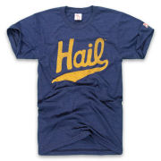 The Mitten State University of Michigan Heather Navy ''HAIL'' Triblend Tee