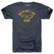The Mitten State University of Michigan Football Heather Navy ''No Place Like Home'' Tri-blend Tee