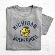 The Mitten State University of Michigan Heather Gray College Vault Wolverine Tri-blend Tee