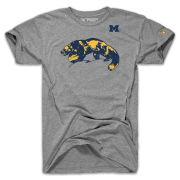 The Mitten State University of Michigan Football Heather Gray ''Protect The Football'' Tri-blend Tee