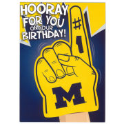 Fanatic Cards University of Michigan ''Hooray'' Birthday Greeting Card