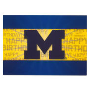 Fanatic Cards University of Michigan Block ''M'' Logo Birthday Greeting Card