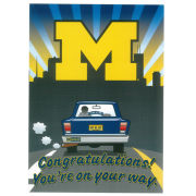 Fanatic Cards University of Michigan Acceptance Greeting Card