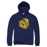 Mitchell & Ness University of Michigan Navy Vault Wolverine Hooded Sweatshirt