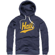 The Mitten State University of Michigan Heather Navy ''HAIL'' Triblend Hooded Sweatshirt