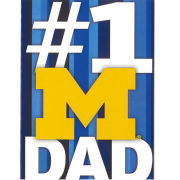 Fanatic Cards University of Michigan Father's Day #1 Dad Greeting Card
