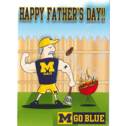 Fanatic Cards University of Michigan Father's Day ''Grilling Dad'' Greeting Card