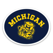 The Mitten State University of Michigan College Vault Wolverine ''Michigan'' Decal