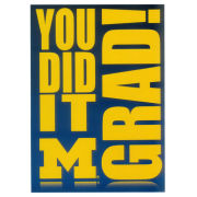 Fanatic Cards University of Michigan Graduation ''You Did It Grad!'' Greeting Card