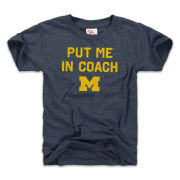The Mitten State University of Michigan Youth Heather Navy ''Put Me In Coach'' Tri-blend Tee