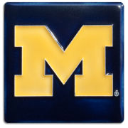 Motawi Tileworks University of Michigan Navy Block ''M'' Tile