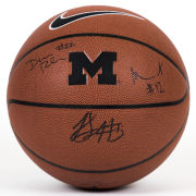 University of Michigan Basketball Rahkman, Robinson, and Simmons Autograph Replica Basketball