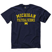 University of Michigan Political Science Navy Tee