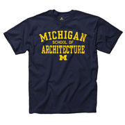 University of Michigan School of Architecture Navy Tee