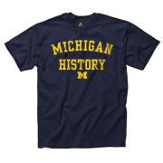 University of Michigan School of History Navy Tee