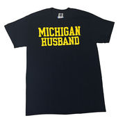 University of Michigan Husband Navy Tee