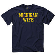 University of Michigan Wife Navy Tee
