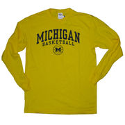 New Agenda University of Michigan Basketball Long Sleeve Yellow Tee