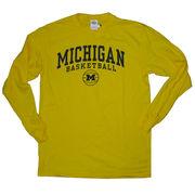 University of Michigan Basketball Long Sleeve Yellow Tee