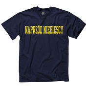 New Agenda Michigan Wolverines Navy Polish 'Go Blue' Language Tee