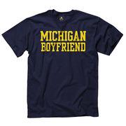 University of Michigan Boyfriend Navy Tee