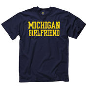 New Agenda University of Michigan Girlfriend Navy Tee