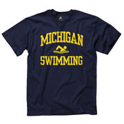 New Agenda Michigan Wolverines Swimming and Diving Navy Sport Tee