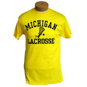 University of Michigan Lacrosse Yellow Graphic Tee