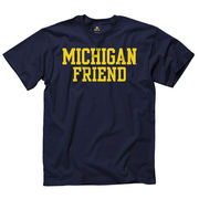 University of Michigan Friend Navy Tee