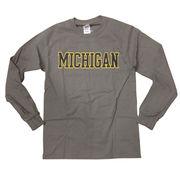 University of Michigan Charcoal Gray Long Sleeve Basic Tee