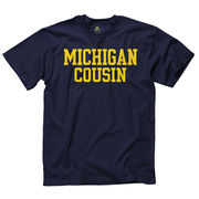 New Agenda University of Michigan Cousin Navy Tee