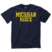 University of Michigan Niece Navy Tee
