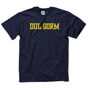 New Agenda University of Michigan Navy Gaelic Go Blue Language Tee