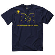 New Agenda University of Michigan Wolverines in Texas Navy Tee