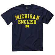 New Agenda University of Michigan English School Navy Tee