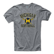New Agenda University of Michigan Softball Gray Ringspun Tee