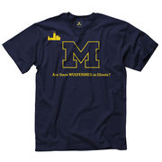 New Agenda University of Michigan Navy Wolverines in Illinois Tee